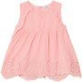 Tシャツ トップス カットソー キッズ 女の子【Mayoral Pink Frill and Eyelet Studded Top】