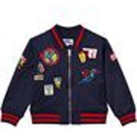 ボンバージャケット MA1 ミリタリージャケット キッズ 男の子【Fabric Flavours Marvel Badge Bomber Jacket