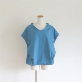 【再販】marine blue フロントタックブラウス