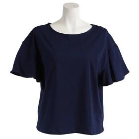 クー(Coo.) 半袖 デザインTシャツ 872Q8CD2049NVY (Lady's)