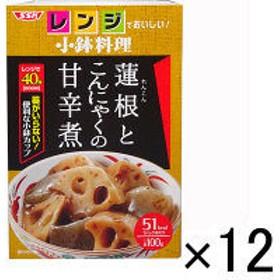 SSKセールス 【レンジでおいしい!小鉢料理】蓮根とこんにゃくの甘辛煮 100g <化学調味料無添加>1セット(12個)