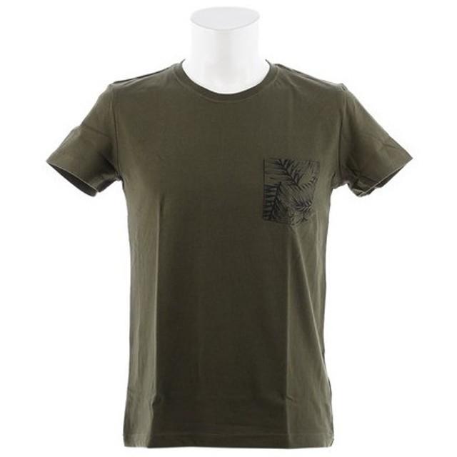 クー(Coo.) ポケットボタニカルプリント 半袖Tシャツ 871Q8CD2040OLV (Men's)