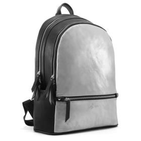 INSTYLE BAGS ニュートラルバックパック-ユニセックス-メタリックシルバー/ブラック