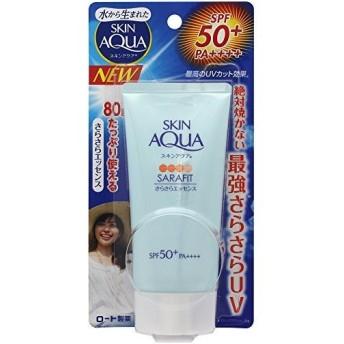 ロート製薬 SKIN AQUA(スキンアクア) サラフィットUVさらさらエッセンス無香料 80g 日焼け止め