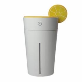 LIBESON 超音波 静音 加湿器 USB 卓上 ムードランプ カップ型 オレンジ