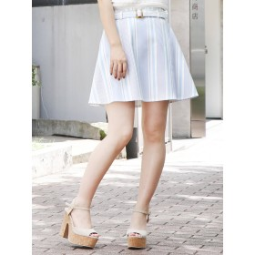 dazzlin ベルト付フレアミニスカート