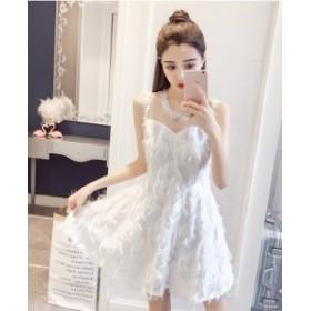 ワンピース ドレス シフォン シースルー 妖精 ドレスアップ