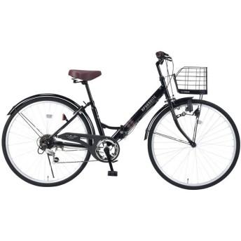 マイパラス M-507-BK ブラック [折りたたみシティ自転車(26インチ・6段変速)] 折りたたみ自転車・ミニベロ