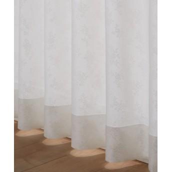 【送料無料!】フラワー柄レースカーテン レースカーテン・ボイルカーテン