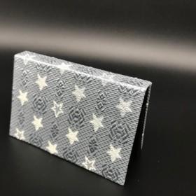 博多織オリジナル献上柄&星柄コラボBOX型名刺入れ ゴールドカラー 金糸 限定一個