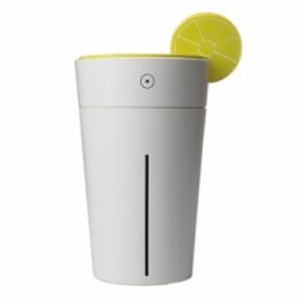 LIBESON 超音波 静音 加湿器 USB 卓上 ムードランプ カップ型 レモン