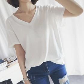 【送料無料】 1枚あれば大活躍 \爽やか白Tシャツ / 韓国ファッション Tシャツ 白T シャツ 夏服 レディース トップス