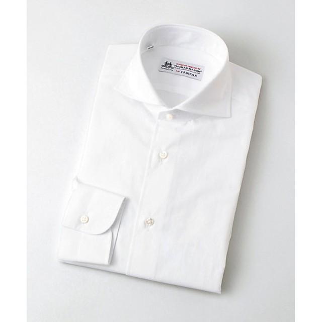 <フェアファクス/FAIRFAX> カッタウェイ/ブロードシャツ(03500CW) ホワイト 【三越・伊勢丹/公式】
