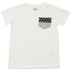 クー(Coo.) ボーイズ ポケットデザイン半袖Tシャツ 865Q8RY5708 WHT (Jr)