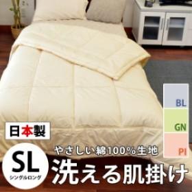 肌掛け布団 洗える 日本製 シングルロング 150×210cm ダクロン フレッシュ 7-hole 無地 ベージュ ピンク グリーン ブルー シングル