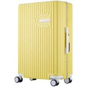 TSAロック搭載 無料受託手荷物対応サイズ ダブルキャスター装備 パステルカラー フレームキャリー 5105-60 イエロー【56L(3 5泊) 4.3kg】 5105-60-YE イエロー [(約)56L]