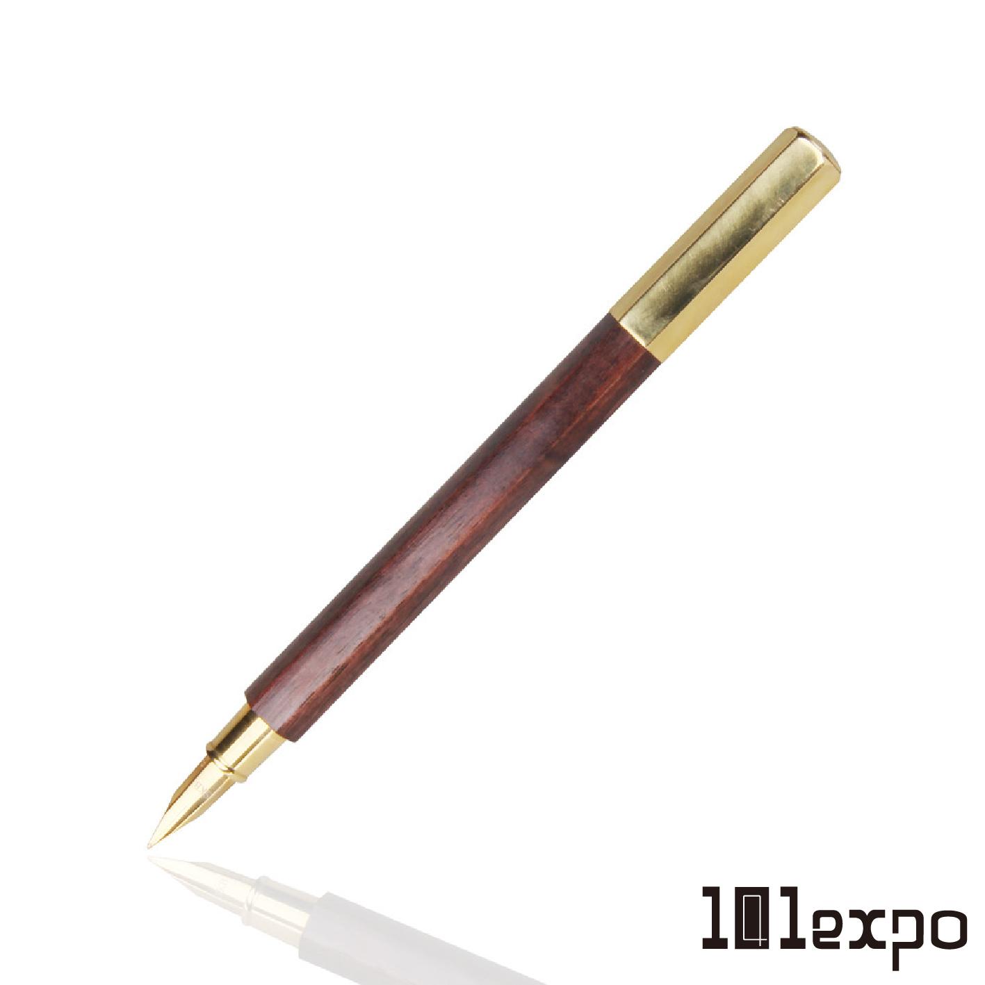 六角木頭系列鋼筆 黃銅版EF尖