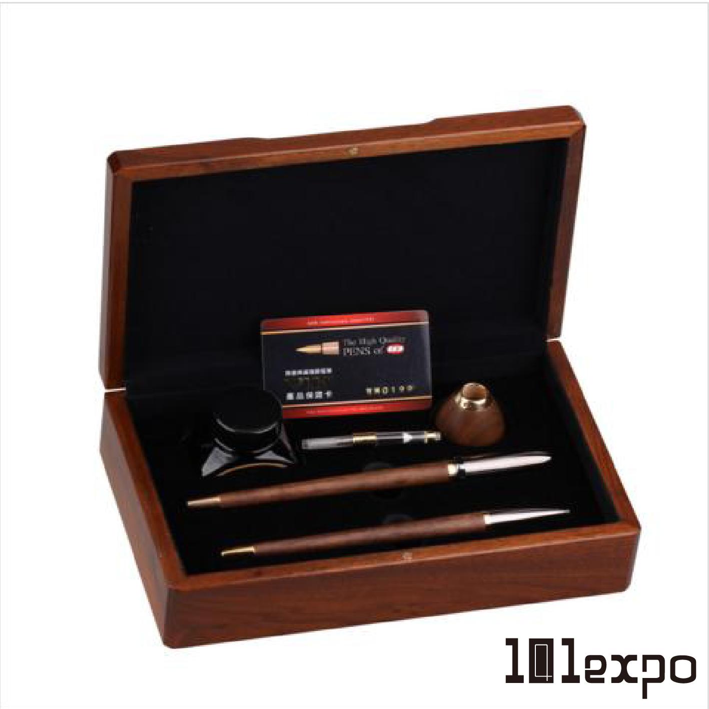 尊爵系列檯筆對筆禮盒組 (鍍黃金鋼筆/鍍黃金鋼珠筆)