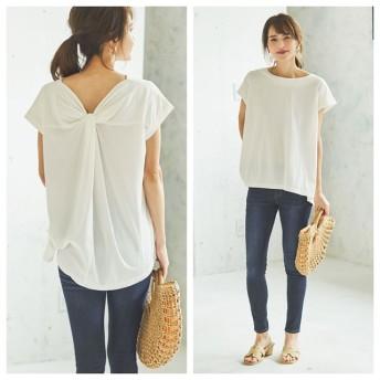 Tシャツ - Re: EDIT 女性らしさを昇華させるバックコンシャスなカットソー バックツイストカットソートップス トップス/カットソー・Tシャツ