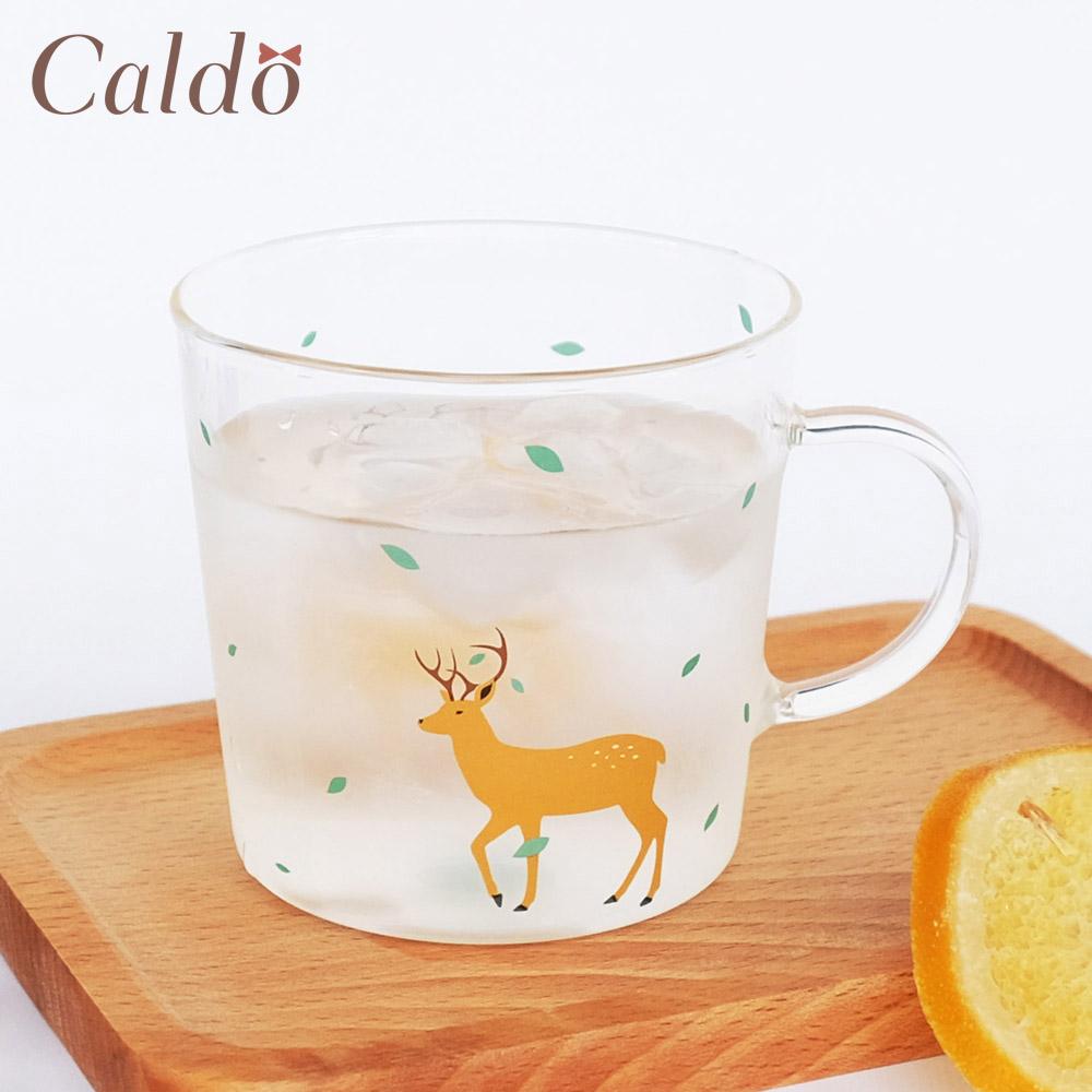 【Caldo卡朵生活】童趣動物耐熱透明馬克杯(3款)