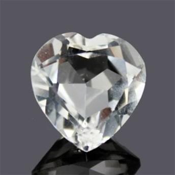 【4月誕生石】天然石 高品質超透明天然水晶 ハートダイヤモンドカット ルース 1ピース〔H1-14〕