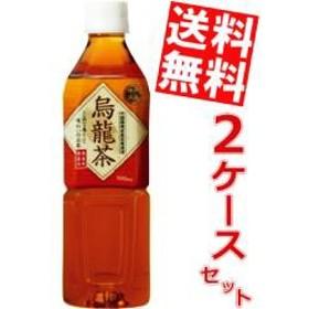 【送料無料】富永貿易 神戸茶房 烏龍茶 500mlPET 48本 (24本×2ケース)[のしOK]big_dr