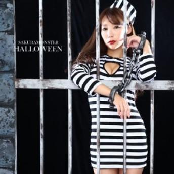 ハロウィン 衣装 女 大人 コスプレ 囚人 コスチューム 大人 レディース キャラクター 仮装