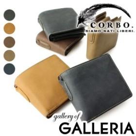 【商品レビューで+5倍】コルボ CORBO 財布 二つ折り財布 box型小銭入れ メンズ 革 corbo. 8LO-9931