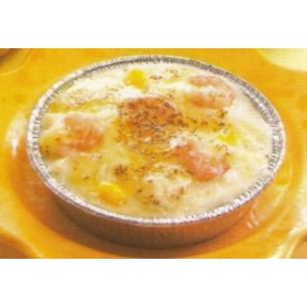 食べやすいミニサイズのエビグラタン 4個入★冷凍食品