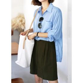 ○有村架純様ご着用○サイドボタンシャツ・全2色・e53013