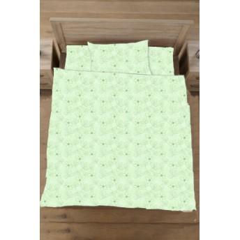 【敷ふとんカバー】綿ローン リーフ セミダブルサイズ(綿100%/125×215cm/グリーン)【日本製】