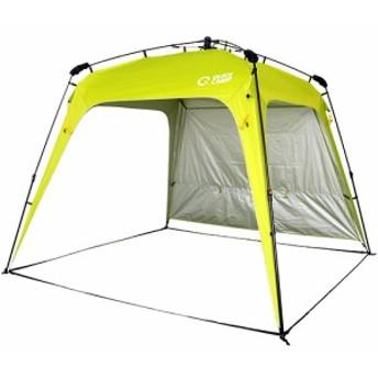 クイックキャンプ (QUICKCAMP) ワンタッチタープ 2.5m フラップ付き グリーン QC-TP250 大型 UVカット アウトドア タープ タープテント