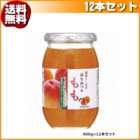 (送料無料)加藤美蜂園本舗 国産もも使用 はちみつ&もも 400g 12本セット