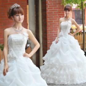 HS208 ウェディングドレス.ドレス.Aライン.プリンセス.マーメイド.結婚式...ブライダル・ベール・グローブ・パニエ無料付き