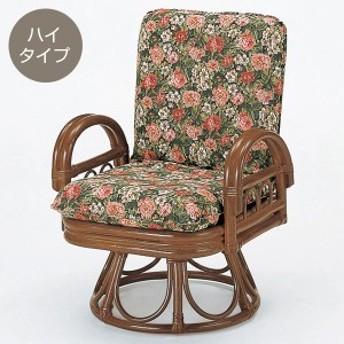 ラタンチェア リクライニング 座椅子 籐家具 座面高37cm ( 送料無料 椅子 イス アジアン )