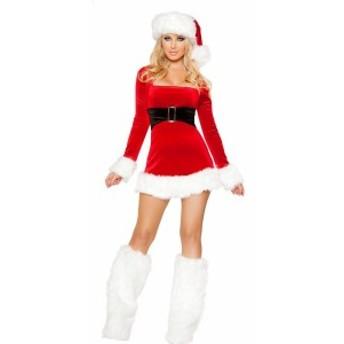 即納!!送料無料!サンタコスプレ V029 セクシー系 舞台用 ステージ用 女子用 飲み会 年始年末 クリスマスパーティーに!!