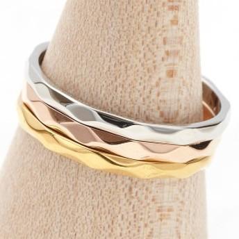 リング ピンキーリング 指輪 ステンレス 低アレルギー 傷つきにくい シンプル ダイヤカットリング オシャレ 華奢 送料無料 秋冬
