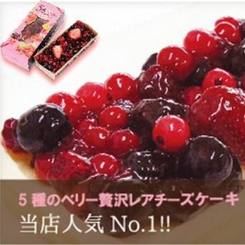 5種のベリー贅沢レアチーズケーキ お中元 ギフト お土産 贈り物 女子会 手土産 フルーツ ケーキ 人気 かわいい きれい