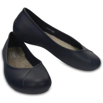 【クロックス公式】 オリビア 2.0 ラインド フラット ウィメン Women's Crocs Olivia II Lined Flat ウィメンズ、レディース、女性用 ブルー/青 21cm,22cm,23cm flat フラットシューズ バレエシューズ ぺたんこシューズ