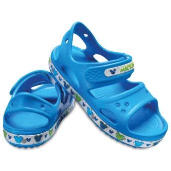 【クロックス公式】 クロックバンド ミッキー 2.0 サンダル PS Kids' Crocband Mickey Mouse II Sandal ユニセックス、キッズ、子供用、男の子、女の子、男女兼用 ライトブルー/青 12cm,13cm,14cm sandal サンダル 30%OFF