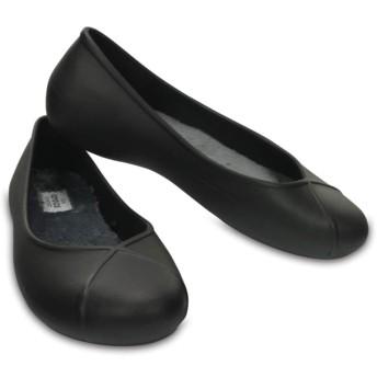 【クロックス公式】 オリビア 2.0 ラインド フラット ウィメン Women's Crocs Olivia II Lined Flat ウィメンズ、レディース、女性用 ブラック/黒 21cm,22cm,23cm,24cm,25cm flat フラットシューズ バレエシューズ ぺたんこシューズ