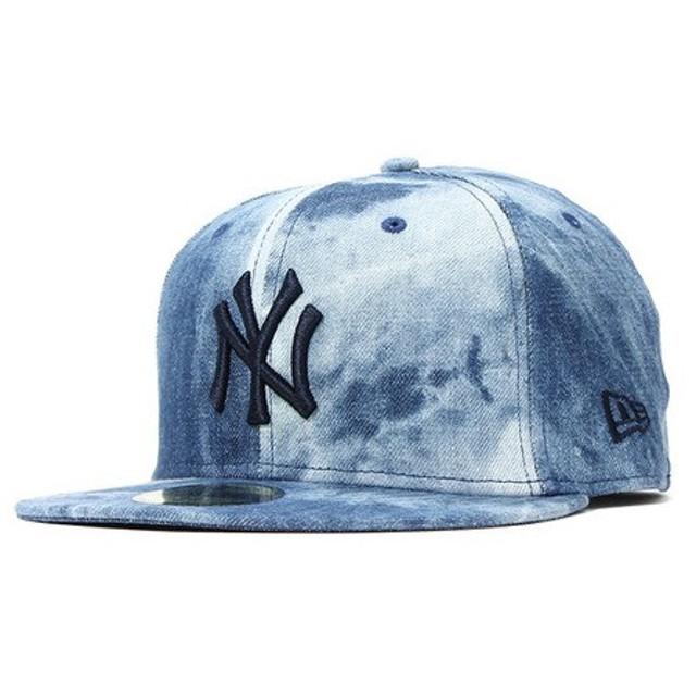 9ea75e1d9c581 ニューエラ(NEW ERA) 59FIFTY タイダイ デニム MLB ニューヨークヤンキース キャップ 11557525 ...