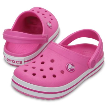 【クロックス公式】 クロックバンド クロッグ キッズ Kids' Crocband Clog ユニセックス、キッズ、子供用、男の子、女の子、男女兼用 ピンク/ピンク 14cm,15.5cm,16.5cm,17.5cm,18cm,18.5cm,19cm,19.5cm,20cm,21cm clog クロッグ サンダル