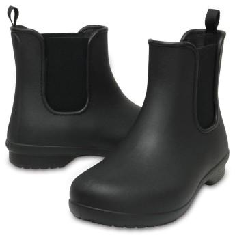 【クロックス公式】 クロックス フリーセイル チェルシー ブーツ ウィメン Women's Crocs Freesail Chelsea Boot ウィメンズ、レディース、女性用 ブラック/黒 21cm,22cm,23cm,24cm,25cm,26cm boot ブーツ