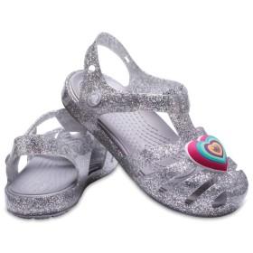 【クロックス公式】 クロックス イザベラ ノベルティ サンダル キッズ Kids' Crocs Isabella Novelty Sandal ガールズ、キッズ、子供用、女の子 グレー/グレー 15.5cm sandal サンダル