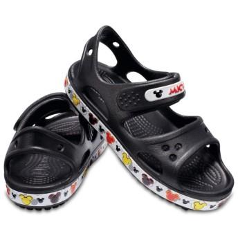 【クロックス公式】 クロックバンド ミッキー 2.0 サンダル PS Kids' Crocband Mickey Mouse II Sandal ユニセックス、キッズ、子供用、男の子、女の子、男女兼用 ブラック/黒 13cm,14cm sandal サンダル 30%OFF