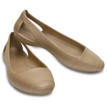 【クロックス公式】 クロックス シエンナ フラット ウィメン Women's Crocs Sienna Flat ウィメンズ、レディース、女性用 ブラウン/茶 22cm,23cm,24cm,25cm,26cm flat フラットシューズ バレエシューズ ぺたんこシューズ