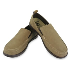 【クロックス公式】 ワルー スリップオン メン Men's Walu Slip-On メンズ、紳士、男性用 ブラウン/茶 25cm,26cm,27cm,28cm,29cm loafer ローファー 靴