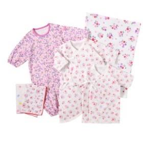 ミキハウス ホットビスケッツ(MIKIHOUSE HOT  BISCUITS)/<新生児>出産準備スターターセット (肌着・ツーウェイオール・ガーゼ)