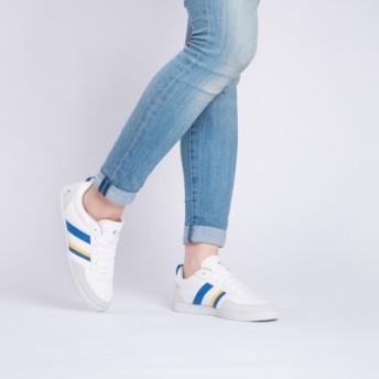 オパールカジュアルシリーズホワイト/エレクトリックライトブルーの女の子
